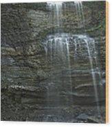 The Falls From Below Wood Print