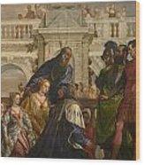 The Family Of Darius Before Alexander Wood Print