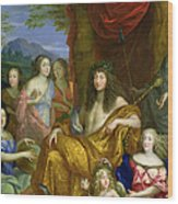 The Family Of Louis Xiv 1638-1715 1670 Oil On Canvas Detail Of 60094 Wood Print