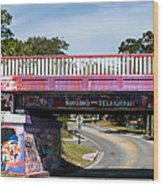 The Famous Graffiti Bridge Wood Print