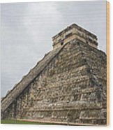 The Famous Kulkulcan Pyramid At Chichen Itza Wood Print