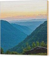 The Far Hills Wood Print