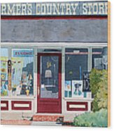 The Farmer's Country Store Wood Print
