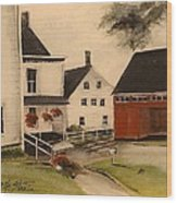 The Farmhouse Wood Print
