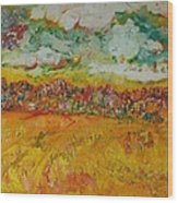 The Farmland Oil On Canvas Wood Print