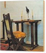 The Father's Desk Wood Print