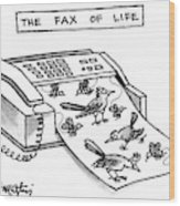 The Fax Of Life Wood Print