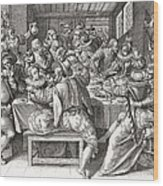 The Feast, After A 17th Century Engraving By N. De Bruyn.  From Illustrierte Sittengeschichte Vom Wood Print