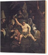 The Feast Of Bacchus, 1654 Wood Print