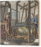 The Fellow Prentices At Their Looms Wood Print