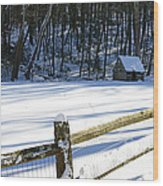 The Fence Line Wood Print