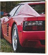 The Ferrari 512 Wood Print
