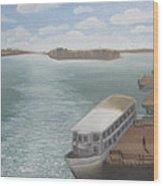 The Ferryman's Break Wood Print