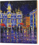 The Festival Of Lights In Lyon France Wood Print