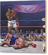 The Fight Of The Century - June 28 1971 C-vs-us Wood Print