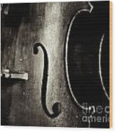 The Figure Of A Cello Wood Print