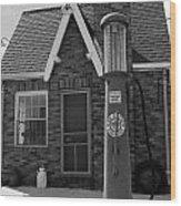 The Filing Station Bw Wood Print
