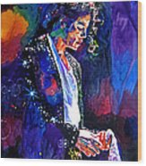 The Final Performance - Michael Jackson Wood Print by David Lloyd Glover