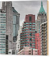The Financial District Wood Print