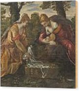 The Finding Of Moses Wood Print