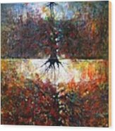 The Fire Of Forest-the Fire Of Heart Wood Print