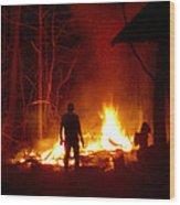 The Fire Starter Wood Print