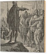 The First Barbarian King Of Italy Wood Print