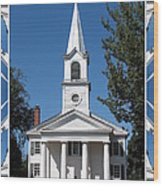 The First Church Of Evans In New York State Wood Print