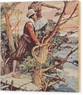 The First Englishman To See The Pacific Wood Print