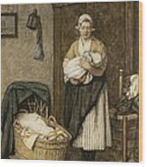 The Firstborn, 1875 Wood Print