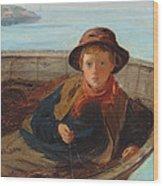 The Fisher Boy Wood Print