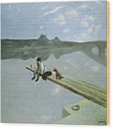 The Fisherman, 1884 Wood Print