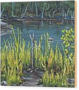 The Fishing Hole Wood Print