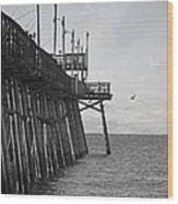 The Fishing Pier Wood Print