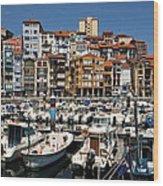 The Fishing Village Wood Print