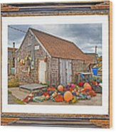 The Fishing Village Scene Wood Print