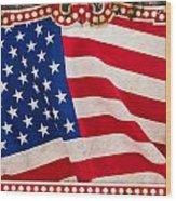 The Flag Wood Print by Martin Bergsma