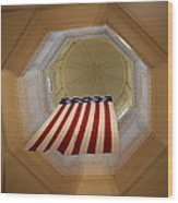 The Flag - Maryland State House Wood Print