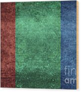 The Flag Of The Planet Mars Wood Print