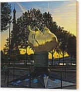 The Flame Of Liberty In Paris Wood Print