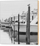 The Fleet Awaits - Outer Banks Wood Print