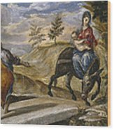 The Flight Into Egypt Wood Print