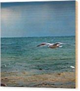 The Flight Wood Print by Rhonda Humphreys
