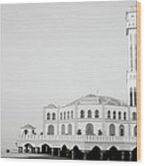 The Floating Mosque Wood Print
