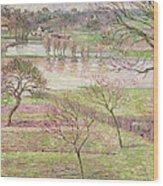 The Flood At Eragny Wood Print