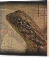 The Florida Lizard Wood Print