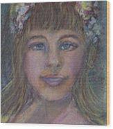 The Flower Girl Wood Print