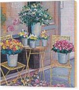 The Flower Shop Paris Wood Print
