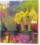 The Flower Stand  Wood Print