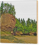 The Flowerpots At Hopewell Rocks On Bay Of Fundy-new Brunswick Wood Print